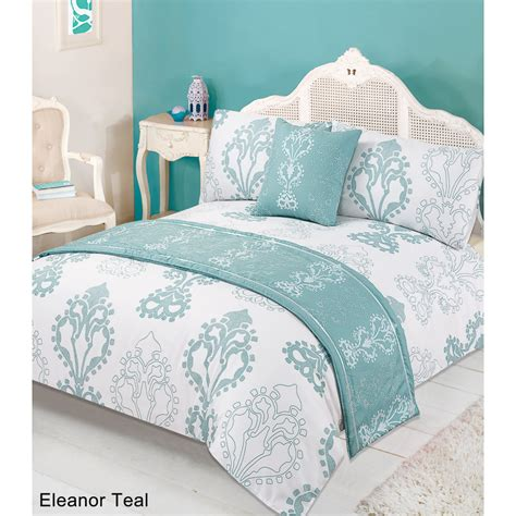 king size bedding in a bag b m floral bed in a bag king size eleanor teal 2941474