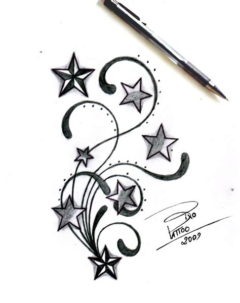 tribal stars tattoo and tribal by bixotattoo on deviantart