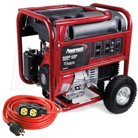 powermate pm0435001 5000 watt portable generator w