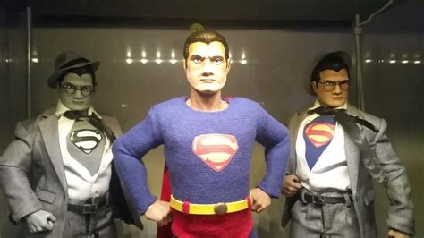 christopher reeve krypto statue protypes george reeves superman and clark figures youtube