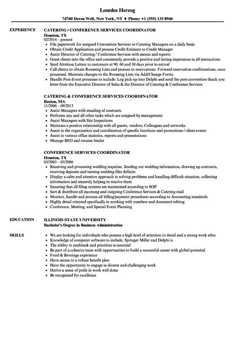 Conference Services Coordinator Resume conference services coordinator resume sles velvet