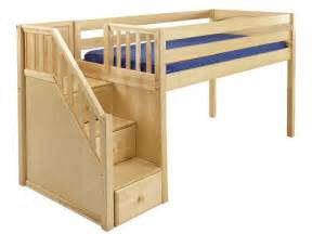 Maxtrix great low loft bed with staircase on end loft beds