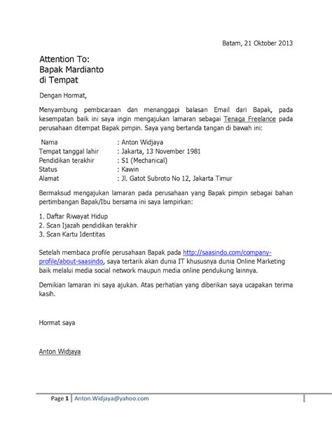 Contoh Offer Sheet Letter 10 surat lamaran kerja via email ben