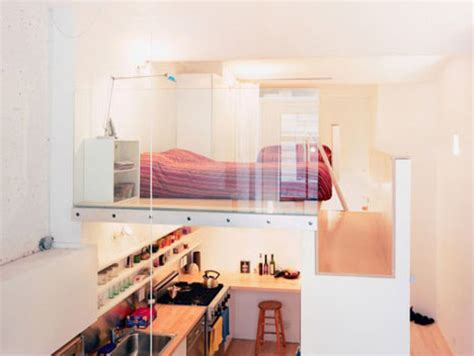 Two Floor Bed | loft bed turns single floor studio to two level apartment