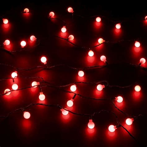 100 Red Berry Led Light Buy Online At Qd Stores Berries Lights