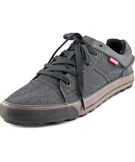 levi sneakers levi s ellison toe canvas sneakers in brown for