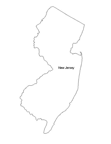 printable map jersey printable map of the state of new jersey