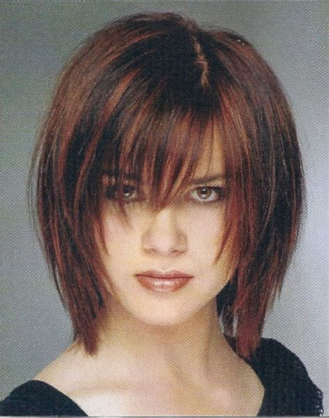 Bob Layered Cut Hairstyle With Bangs Hairstyle 2013 by Razored Bob 2013 With Wispy Bangs Hairstyle 2013