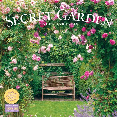 amazon garden amazon com the secret garden wall calendar 2018