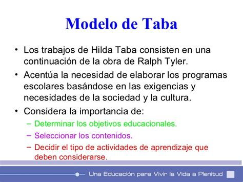Ventajas Modelo Curricular De Hilda Taba Modelos De Planificacion Curricular