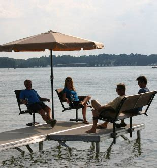 boat dock table and chairs benadi do it yourself boat dock plans