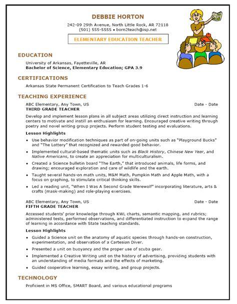 Cover Letter Cv Teachers by Resume For Teachers Post Resumes Best Sle
