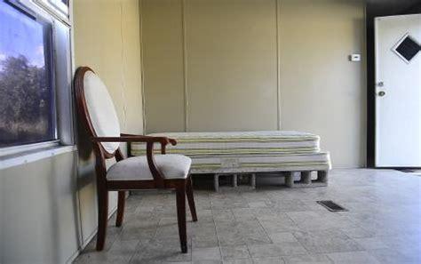 Cinder Block Bed Frame Settling For Squalor A Hardship Called Home Watchdog Sarasota