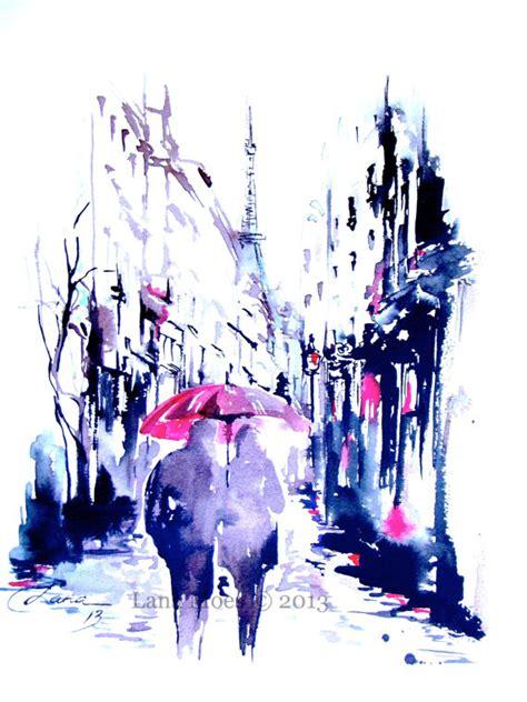 parisian print from original watercolor travel