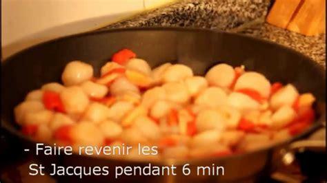 cuisiner des st jacques surgel馥s gratin de noix de st jacques et crevettes rapide
