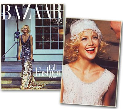 Kate Hudson Goes Great Gatsby For Harpers Bazaar fashion style kate hudson goes great gatsby for