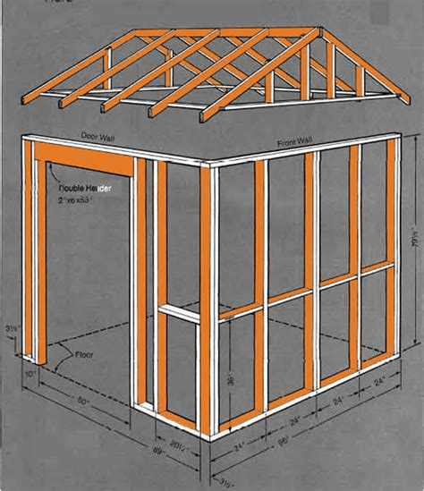 8 215 8 gable storage shed plans blueprints for creating a