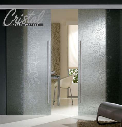 porta arredo porte in vetro scorrevoli decorate con lino cristal