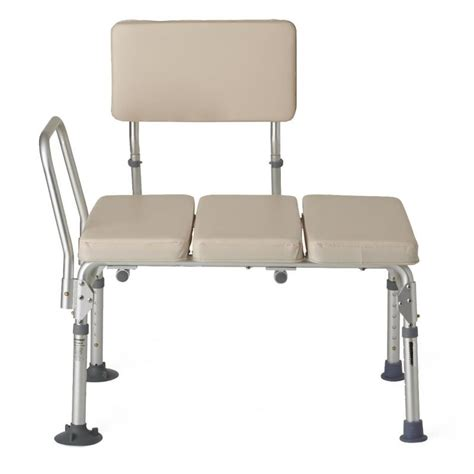 padded shower transfer bench padded transfer benches medline g98338fh