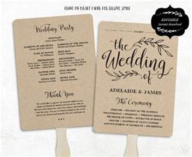 wedding fan template wedding program template 61 free word pdf psd