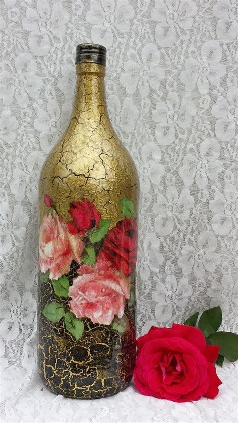 Decoupage Wine Bottles - 271 best images about on altered