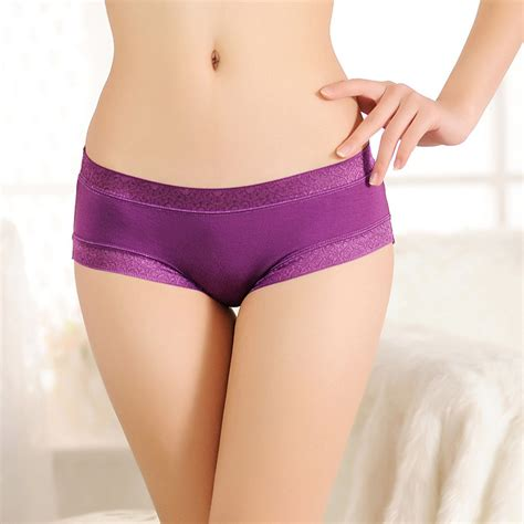 comfortable ladies underwear free shipping bamboo fiber underwear briefs women