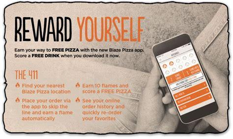 Blaze Pizza Gift Card Deal - pizza earning loyalty apps blaze pizza app