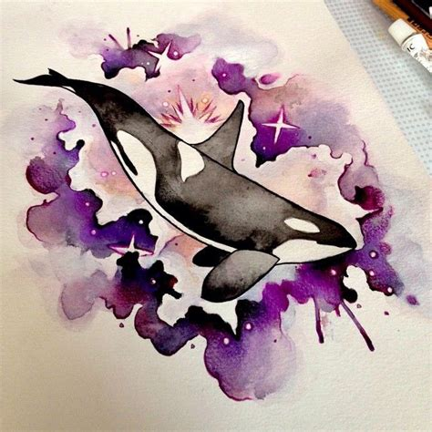tattoo paper perth watercolour orca by isla mcdonald tattoo artist in perth