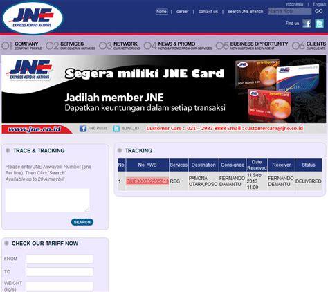cek resi ecommerce cara check keaslian resi jne dan memonitori status paket