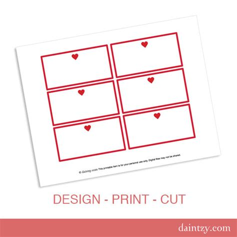 valentine candy buffet labels printable template diy