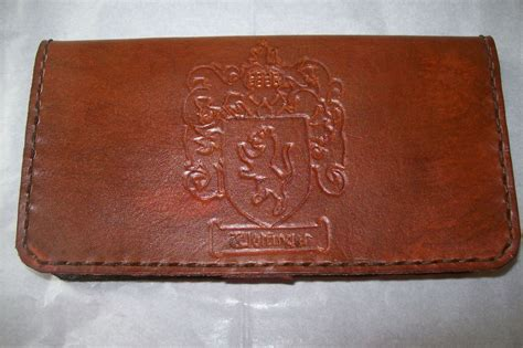 Handmade Leather Checkbook Covers - buy a crafted custom leather checkbook cover made to