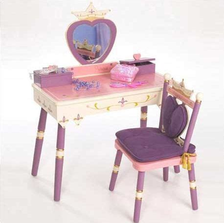 Makeup Vanity Desk With Mirror The Levels Of Discovery Princess Vanity Table And Chair Set