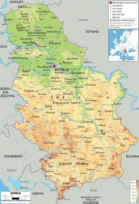 map of serbia maps of serbia detailed map of serbia in tourist map of serbia road map of serbia