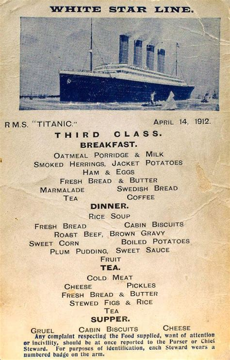 titanic first class menu 1000 images about titanic on pinterest rms titanic