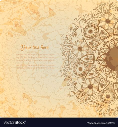card background vintage invitation card on grunge background vector image