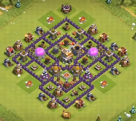 layout level 7 town hall 12 best town hall 7 hybrid bases 2018 new 3 air defenses