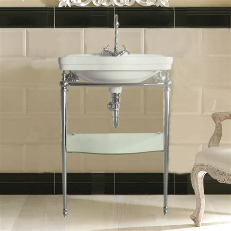 console sink with shelf bissonnet lo914 florian londra freestanding metal console