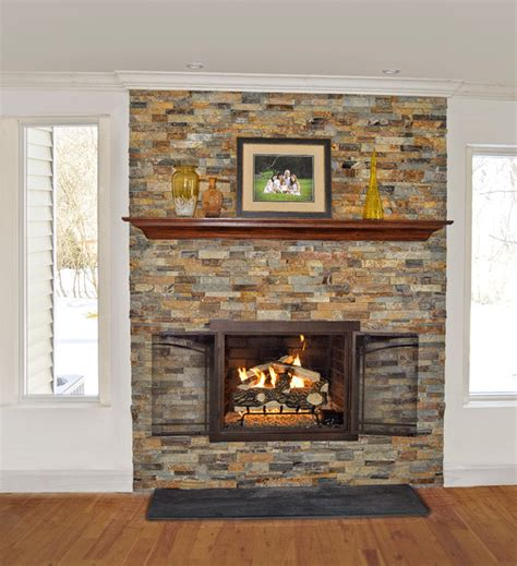 Fireplace Refacing by Stacked Fireplace Reface