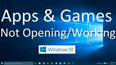 fix store app is not opening in windows 10 apps and games not opening in windows 10 solved