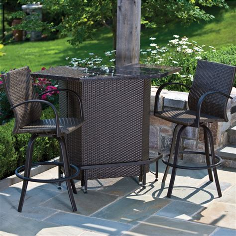patio furniture bar sets vento mezzo outdoor bar set patio furniture by alfresco