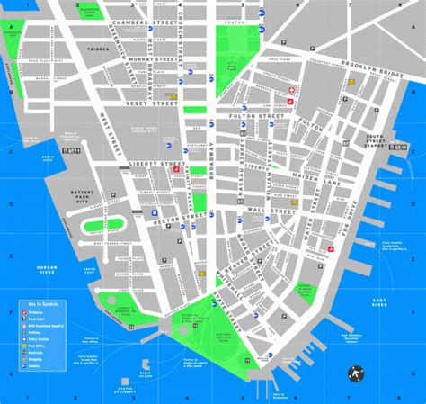 downtown new york city map maps update 30001102 tourist map of new york city map