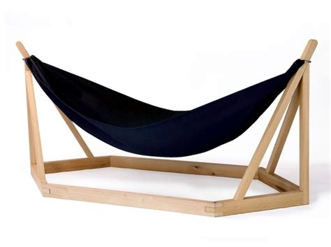 Simple Outdoor Kitchen Designs hammock design with wooden frame by laurent corio