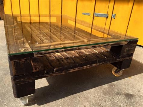 pallet table with wheels glass top pallet coffee table pallet ideas recycled