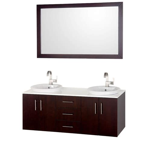 55 Sink Vanity by Wyndham Collection Arrano 55 In Vanity In Espresso With