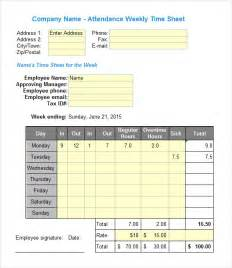 Excel Template For Timesheet by Excel Timesheet Templates 7 Free For Excel