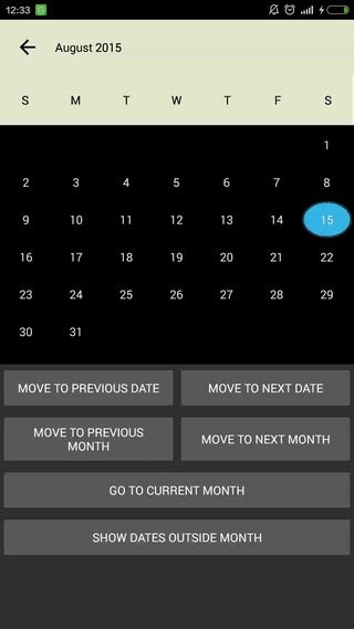 layoutinflater source flexiblecalendar 日历 calendar 开源代码