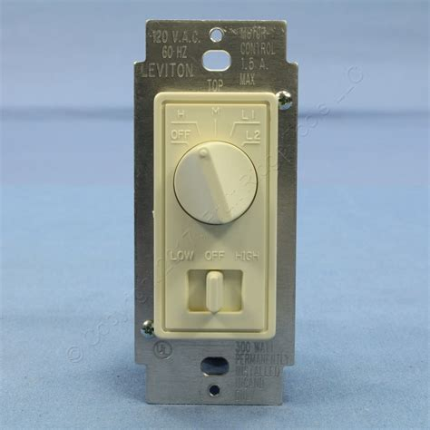 fan control and dimmer switch leviton almond decora dimmer switch stepped fan speed