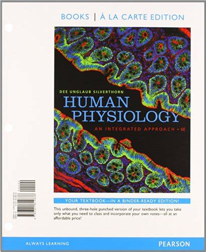 human physiology an integrated approach 8th edition books human physiology an integrated approach books a la carte