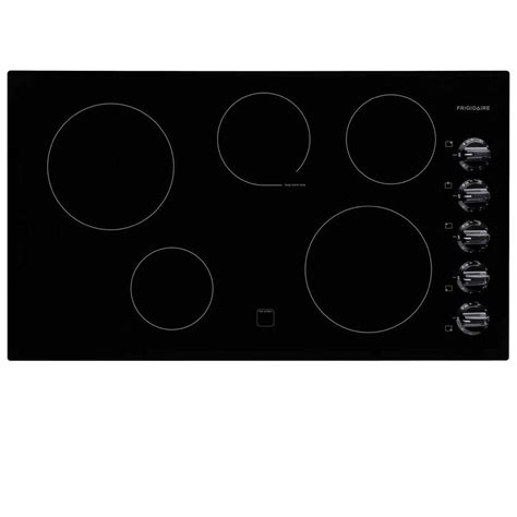 frigidaire electric cooktops frigidaire 36 in radiant electric cooktop in black with 5
