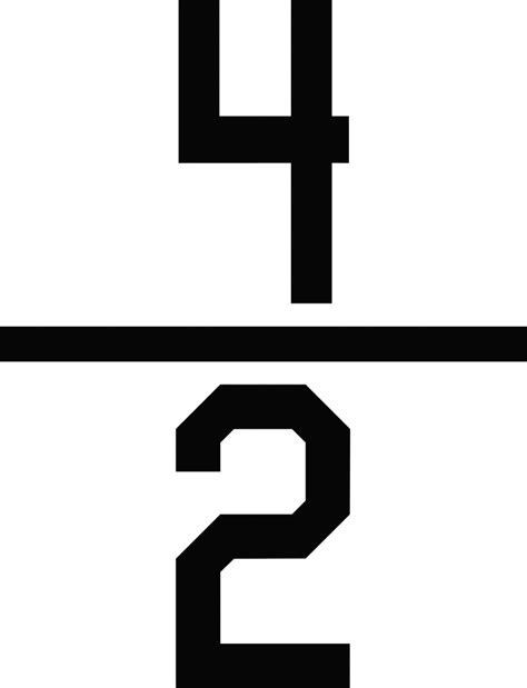 matratzen 2 für 1 numerical fraction 4 2 clipart etc